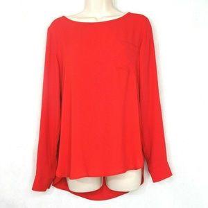 Ann Taylor Loft Top Blouse Women Size S Red-Orange